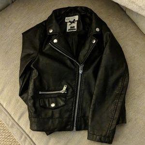 Faux Leather Jacket Girls size 5-6